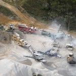 Multiple Crushing & Screening Plants in action, Christmas Creek Quarry, Greenvale Queensland