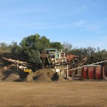 Crushing and Screening of quarry product, Wongabel Quarry Atherton Queensland