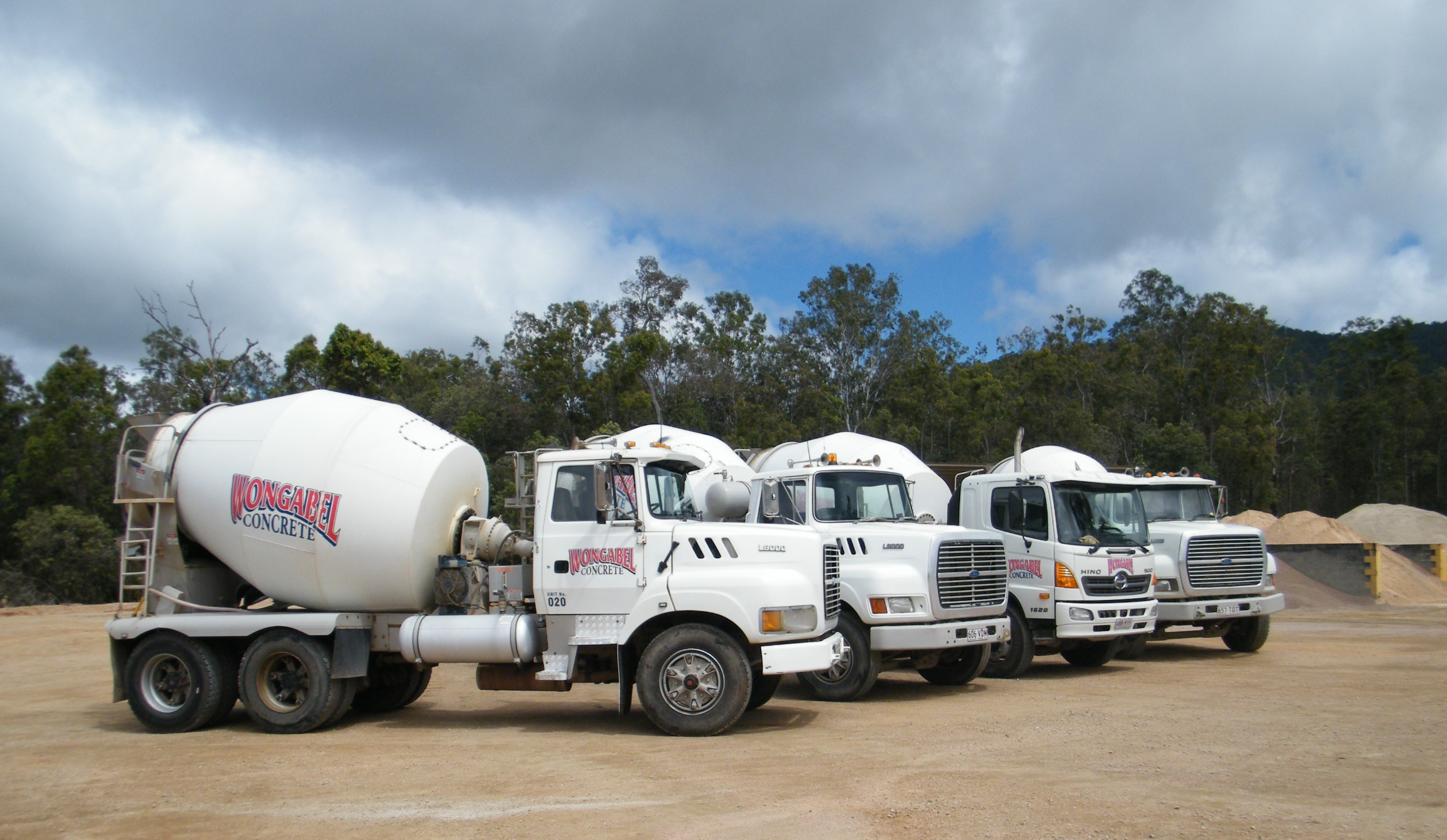 Wongabel Concrete - nine trucks available