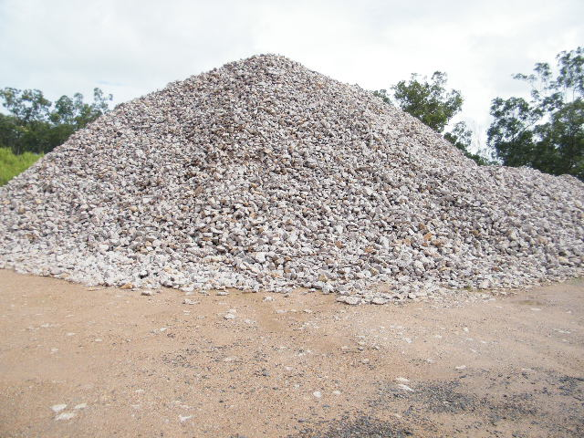 Gabion Rock Stockpile