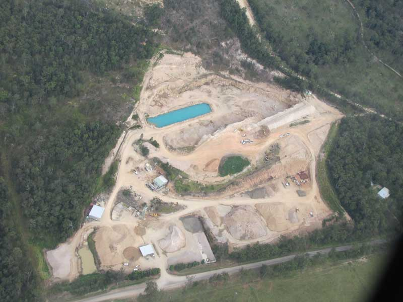 Aerial view of Wongabel Quarry